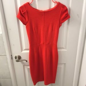 Closet red/orange fitted dress